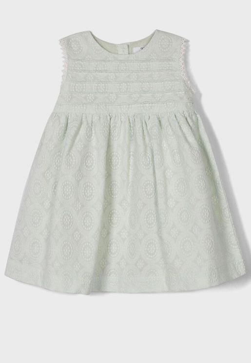 Infant Lace Detail Dress + Knicker Set