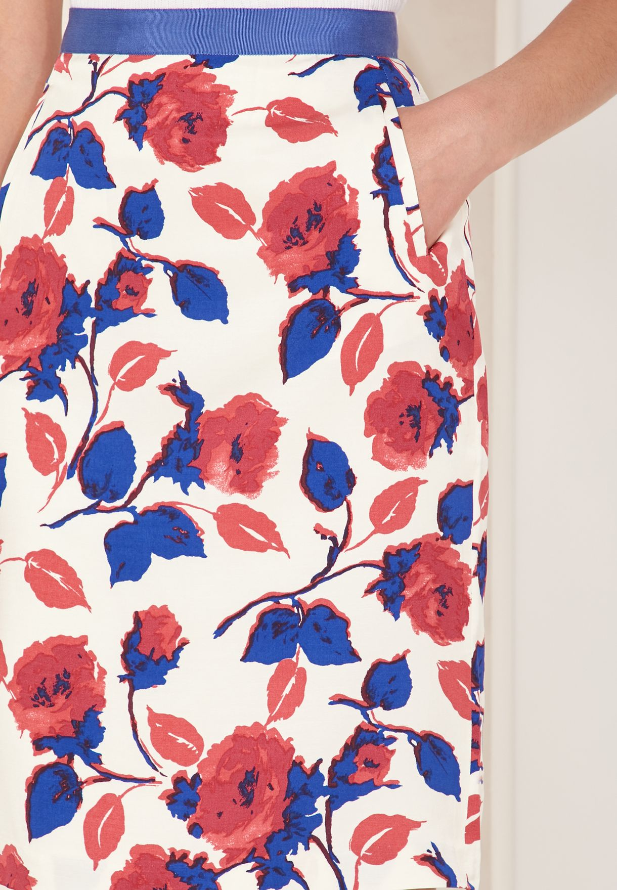 Daywear Rose Print Skirt