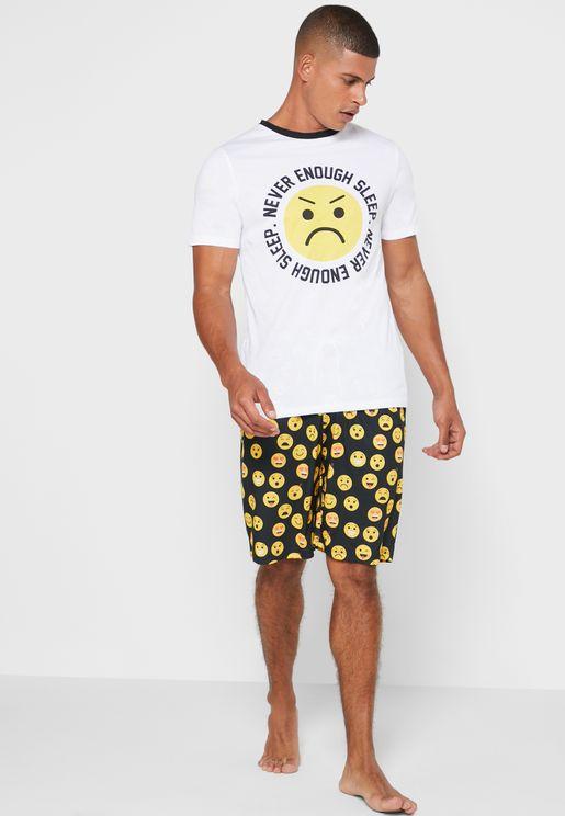 Never Enough Sleep T-Shirt & Short Pyjama Set