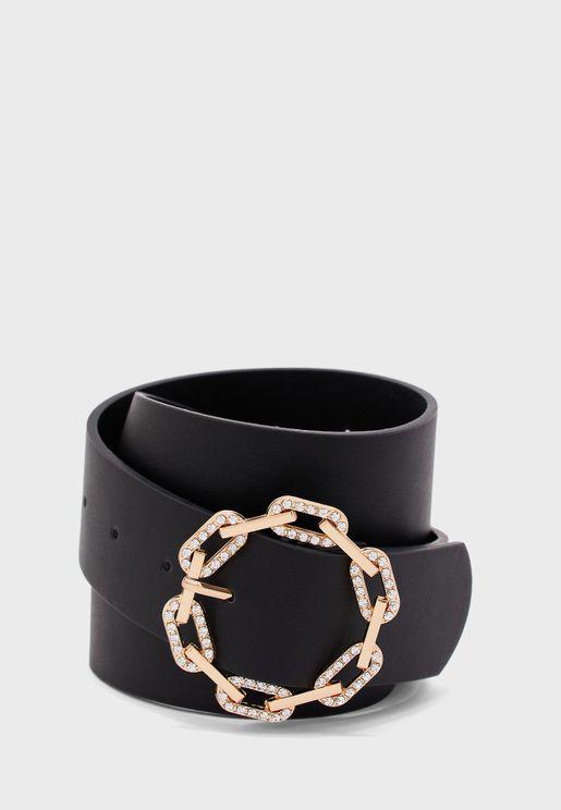 Diamante Chain Buckle Belt