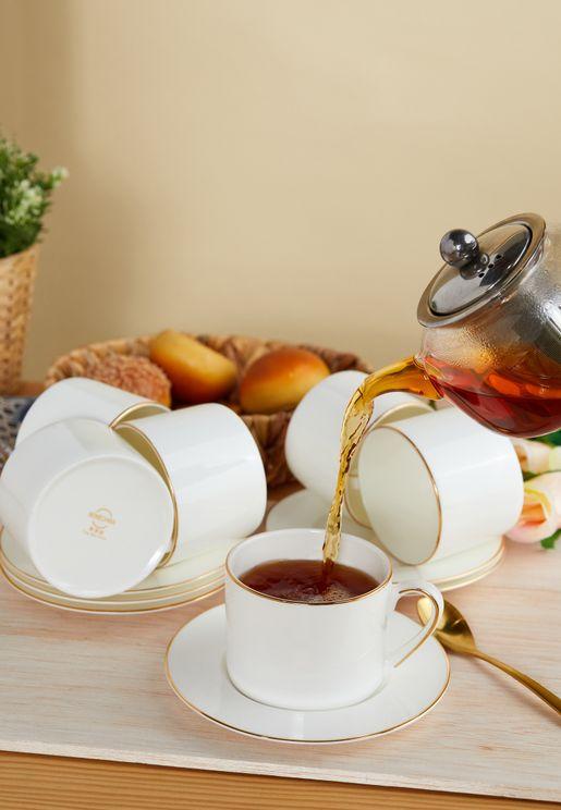 مجموعة اكواب شاي عدد 6