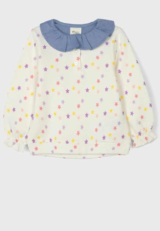Infant Star Print Sweatshirt