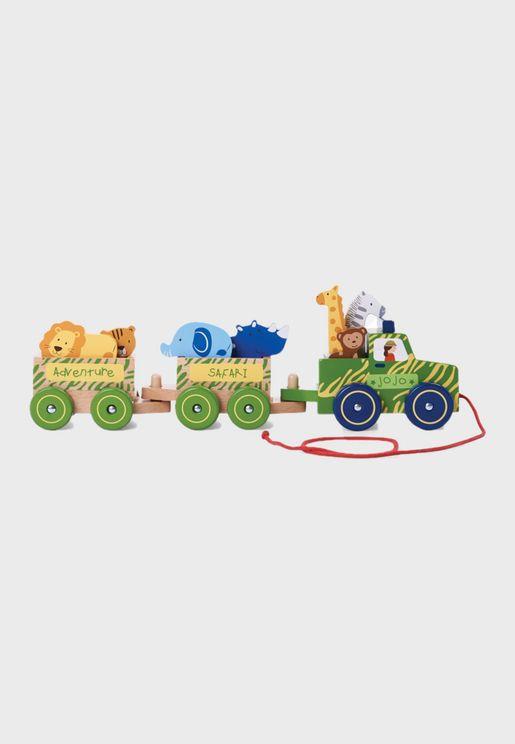 قطار الحيوانات الخشبية