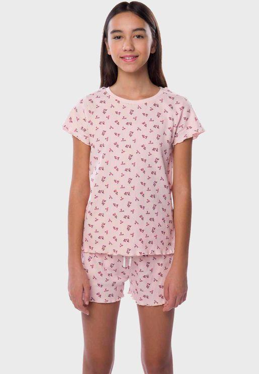 Youth Floral Print Pyjama Set