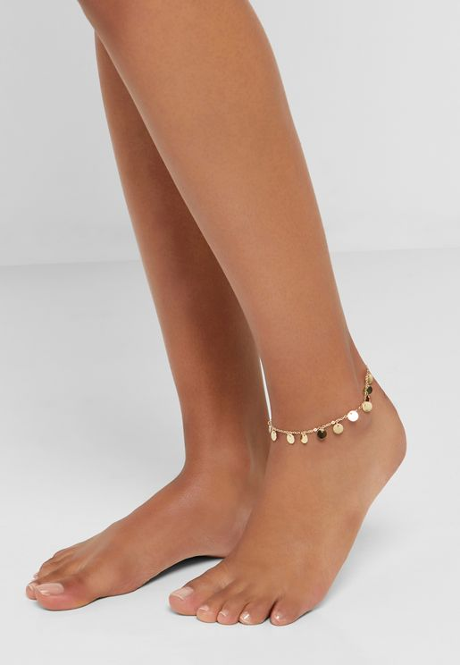 Coin Multi Charm Anklet