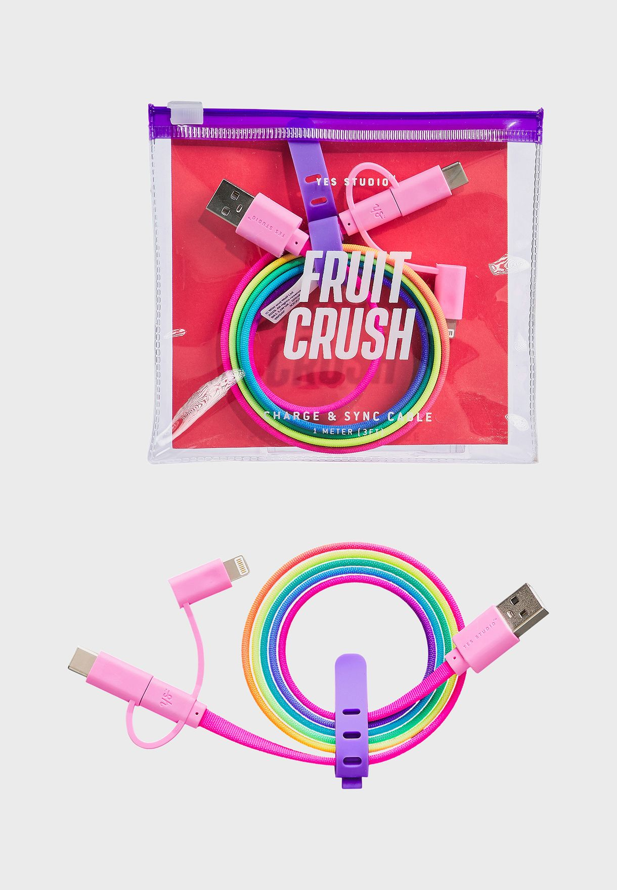 Rainbow Ombre Usb Charging Cable