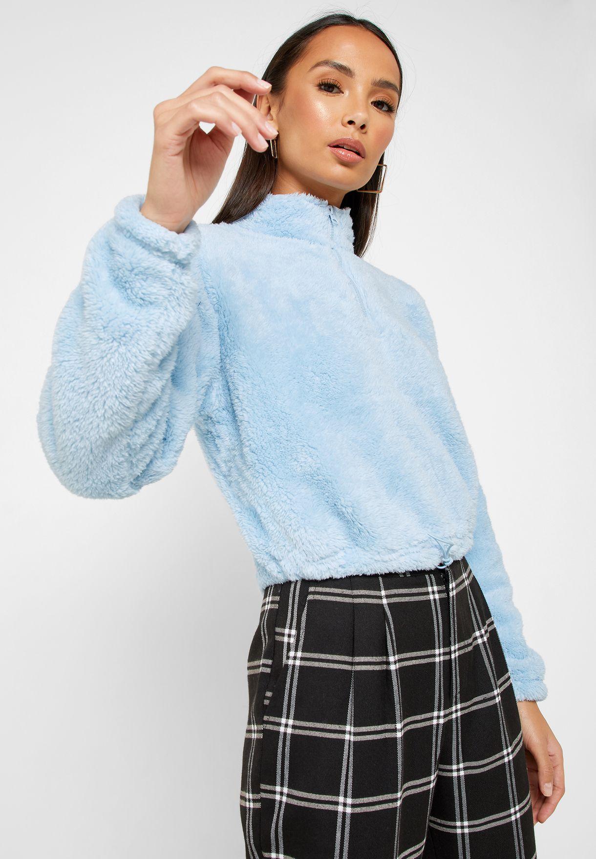 High Neck Teddy Sweater