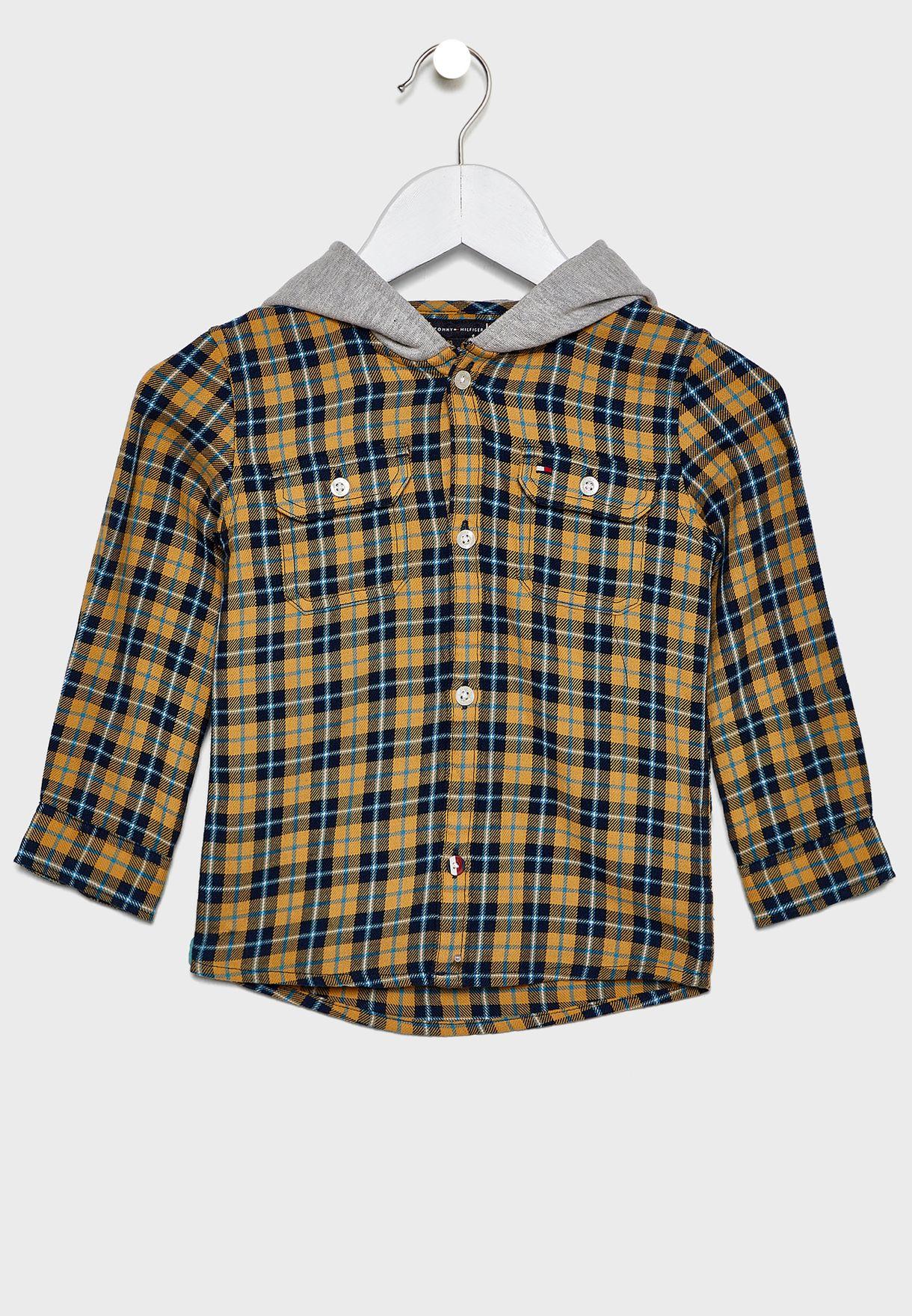 قميص كاروهات بهودي للاطفال