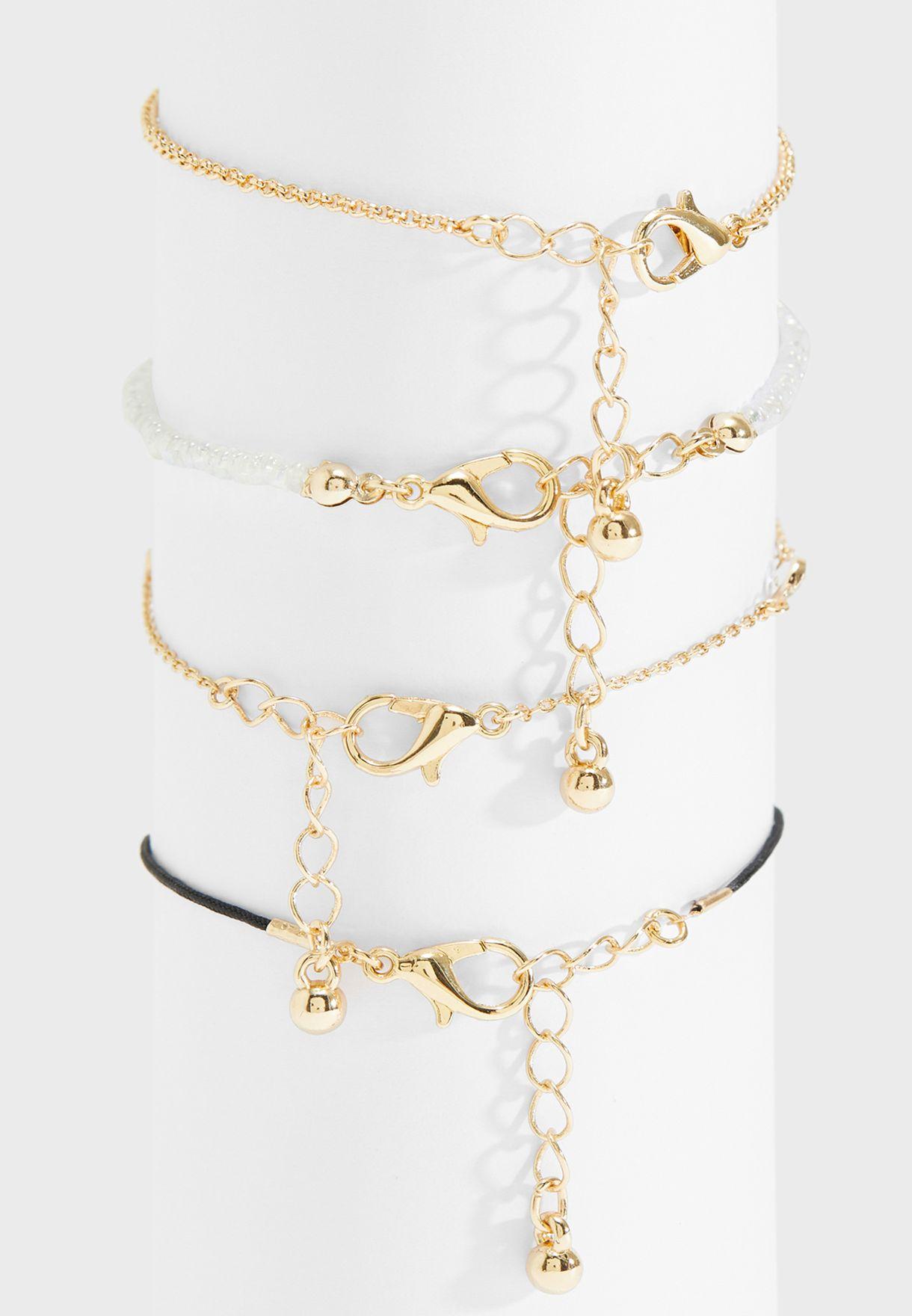 Multipack Stone Detail Bracelets