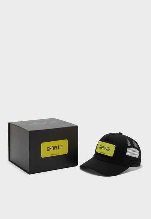 Grow Up - Kids  Curved Peak Cap