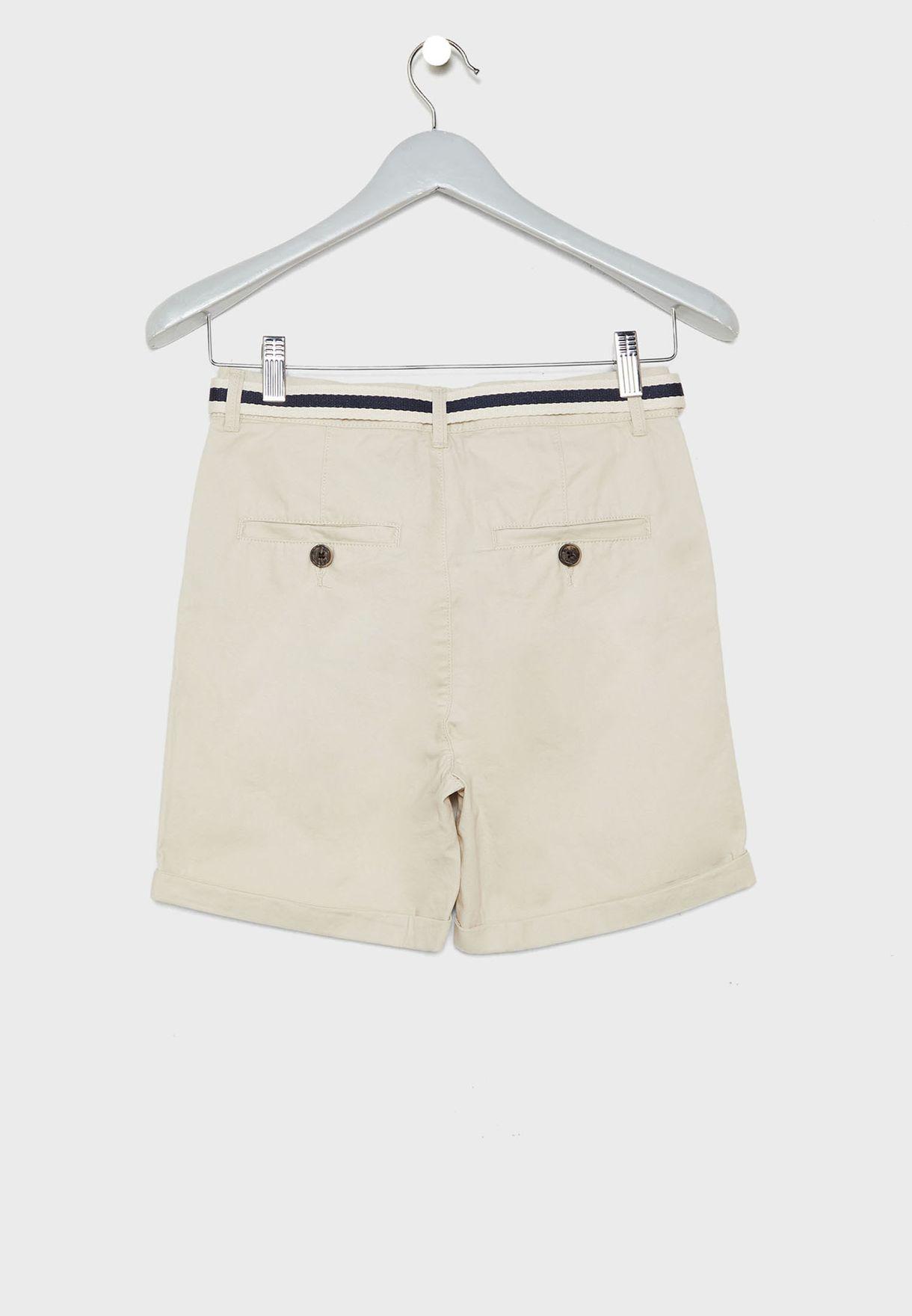 Kids Bermuda Shorts with Belt
