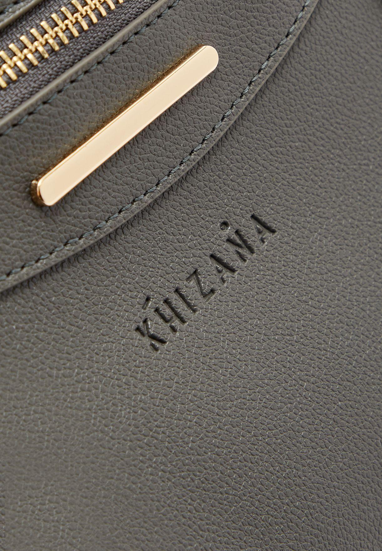 Handle And Zip Detail Satchel
