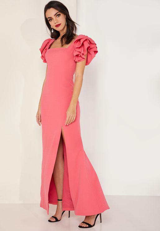 Heart Of Me Sleeve Detail Maxi Dress