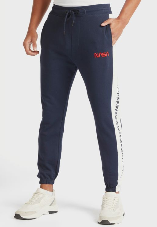 Nasa Side Stripe Cuffed Sweatpants
