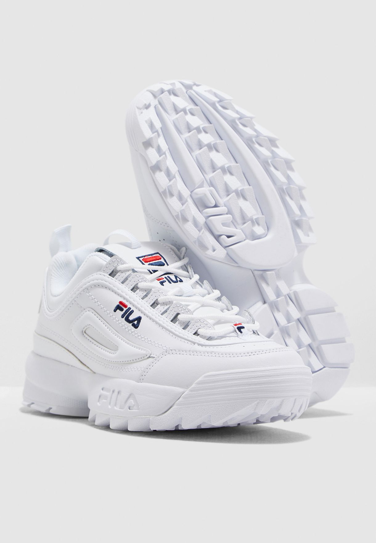 f4ed325cae7a Shop Fila white Disruptor 2 5FM00002-125 for Men in Saudi - 41040SH87KTP
