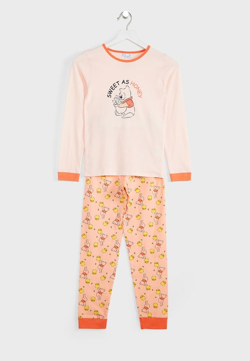 Kids Winnie The Pooh Pyjama Set