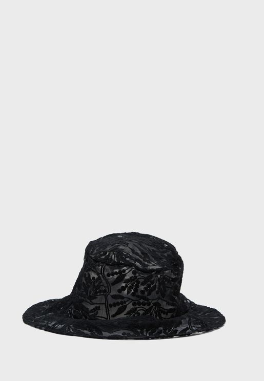 Sheer Patterned Bucket Hat
