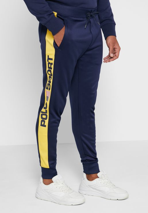 Side Stripe Cuffed Sweatpants