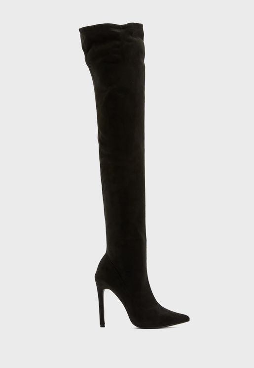 Pointed Over The Knee Stiletto Boot
