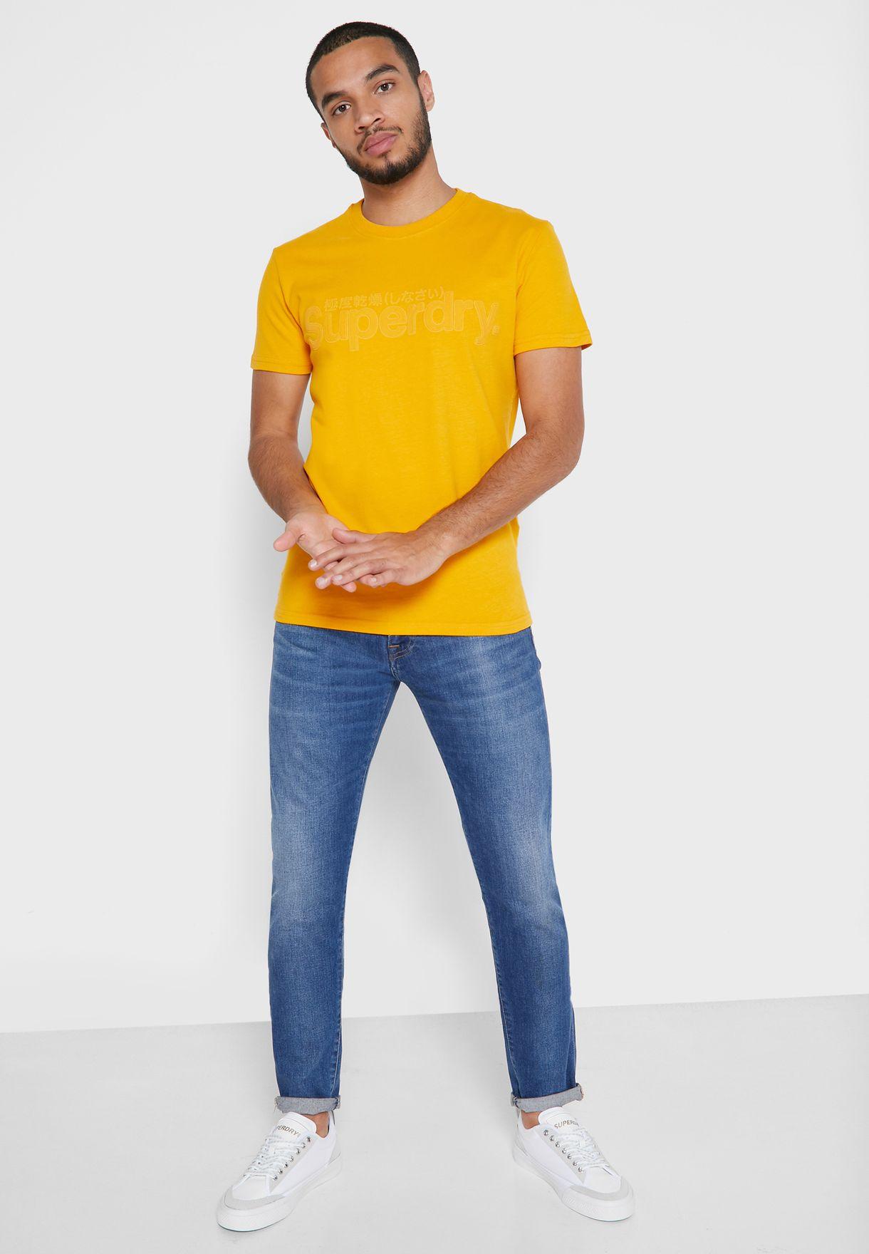 Care Faux Suede Crew Neck T-Shirt