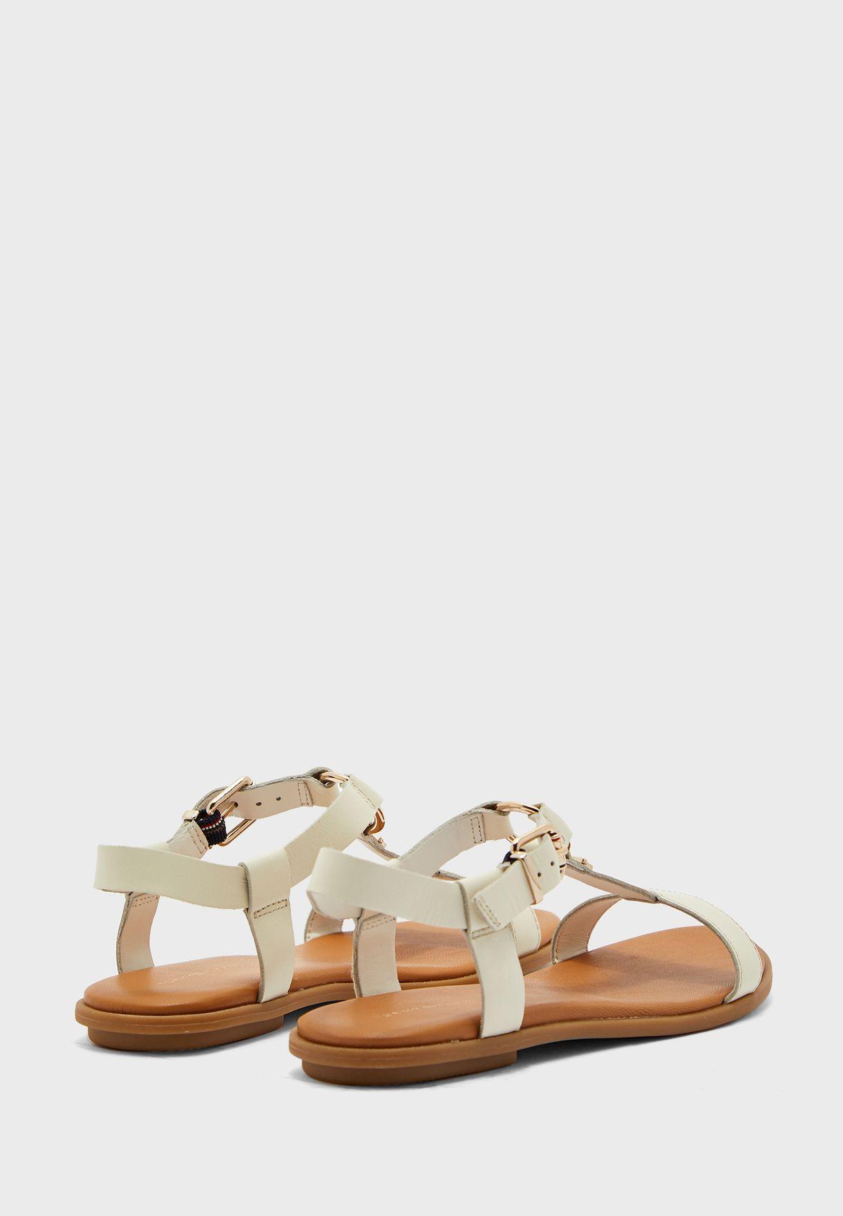 Corporate Leather Flat Sandal