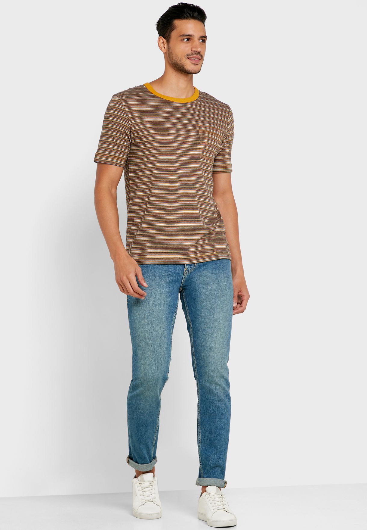 Noah Striped Crew Neck T-Shirt