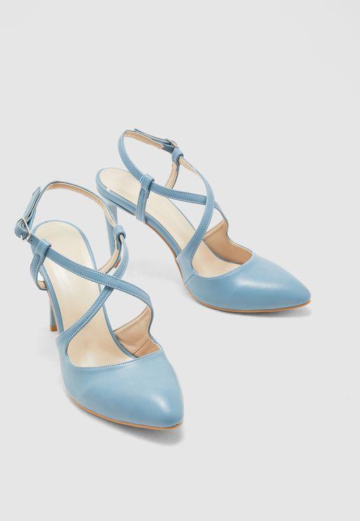 Ankle Strap Pump - Blue