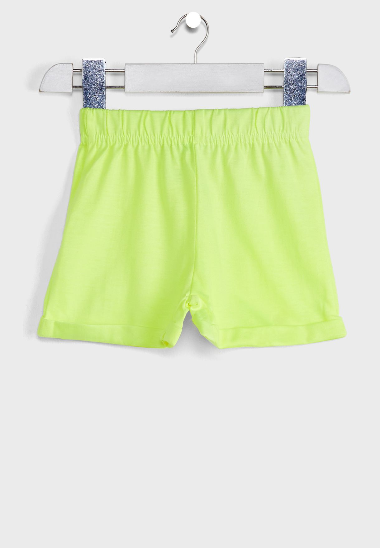 Fluorescent Printed T-Shirt With Shorts