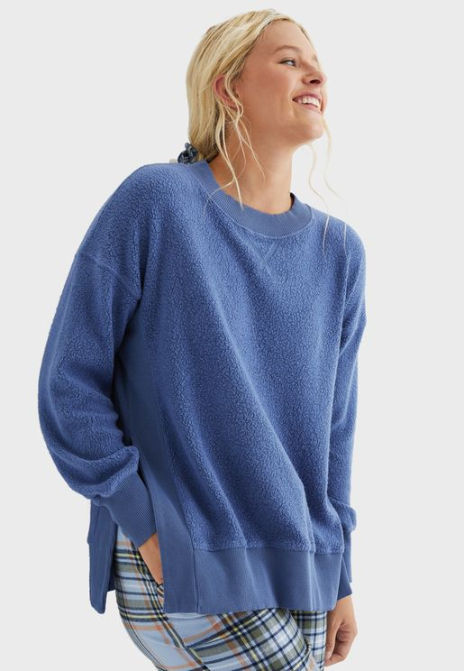 Side Slit Sweatshirt