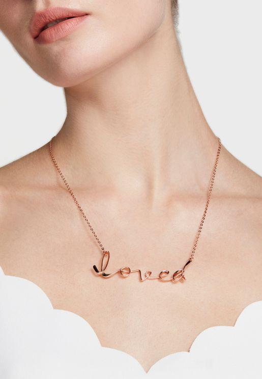 Larna Loved Script Necklace