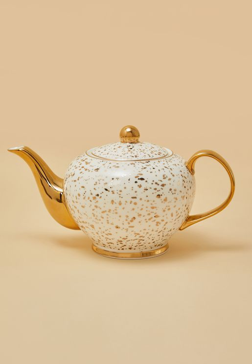 Gold Patterned Tea Pot