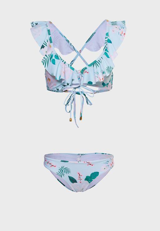 Ruffle Strap Bikini Set