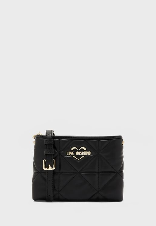 Zip Closure Chain Detail Crossbody