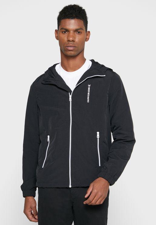 Vertical Logo Windbreaker Jacket