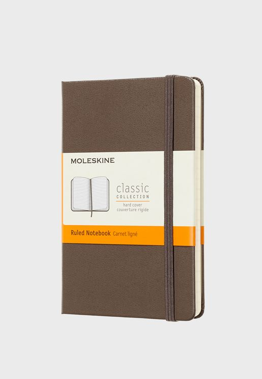 Classic Notebook Pocket Ruled Hard Cover Notebook