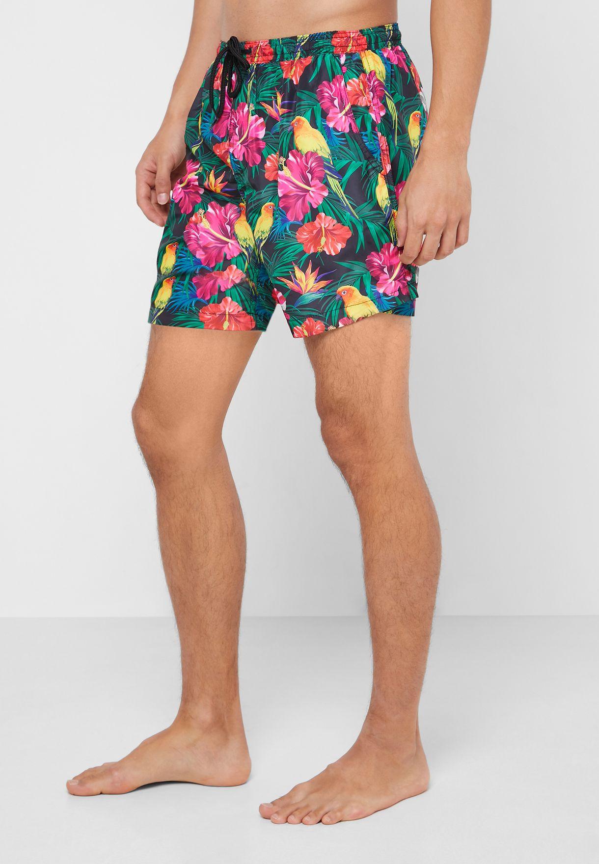 Tropical Print Swimshort