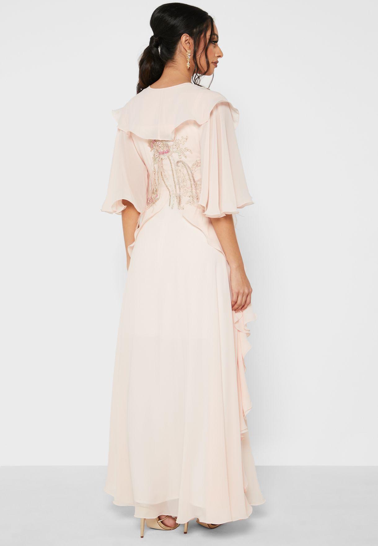 فستان ماكسي مكشكش