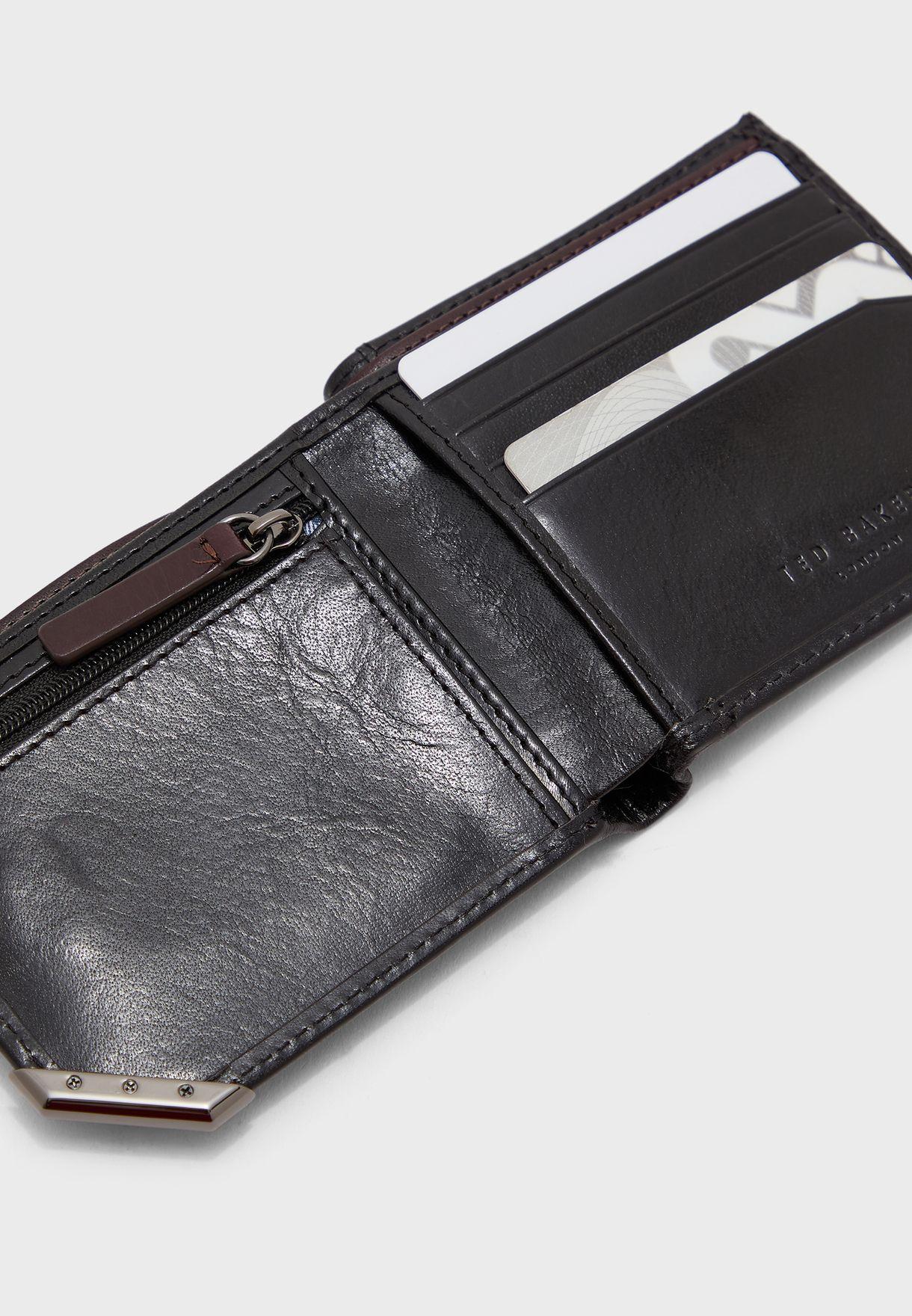 Metal corner bifoldcoin wallet