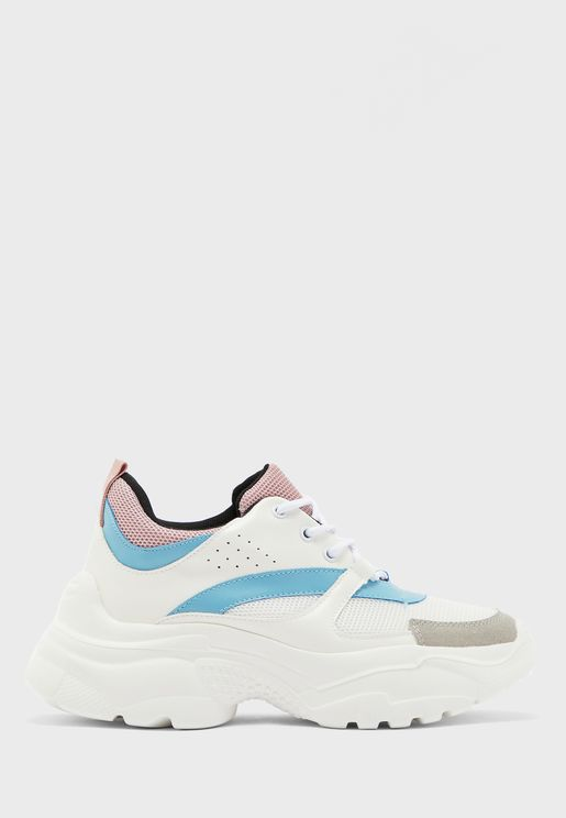 Colour Block Chunky Sneakers