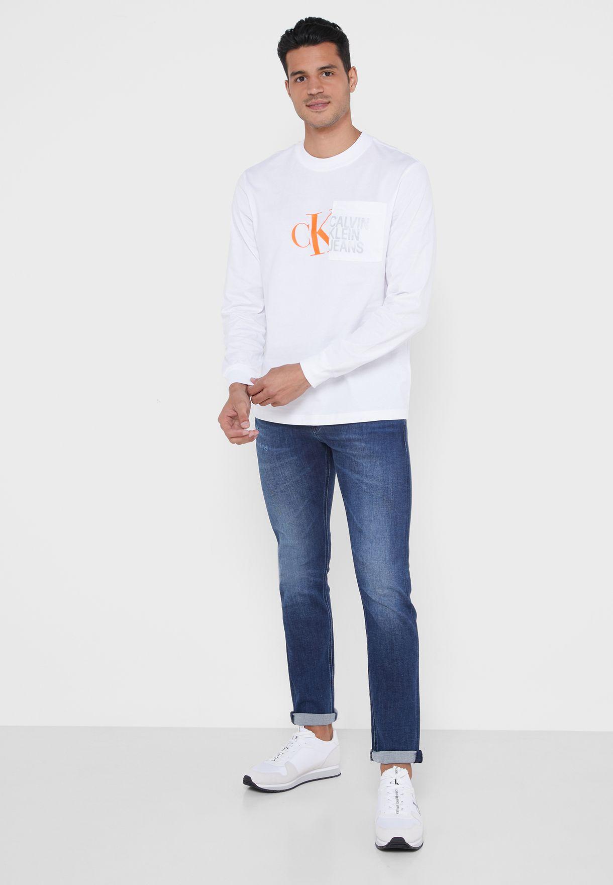 Hybrid Pocket Crew Neck T-Shirt