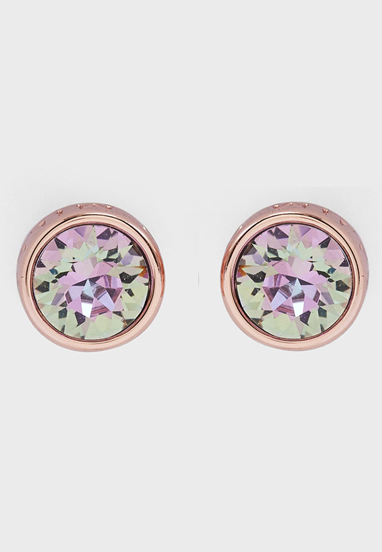 Logo Stud Earrings With Swarovski Elements