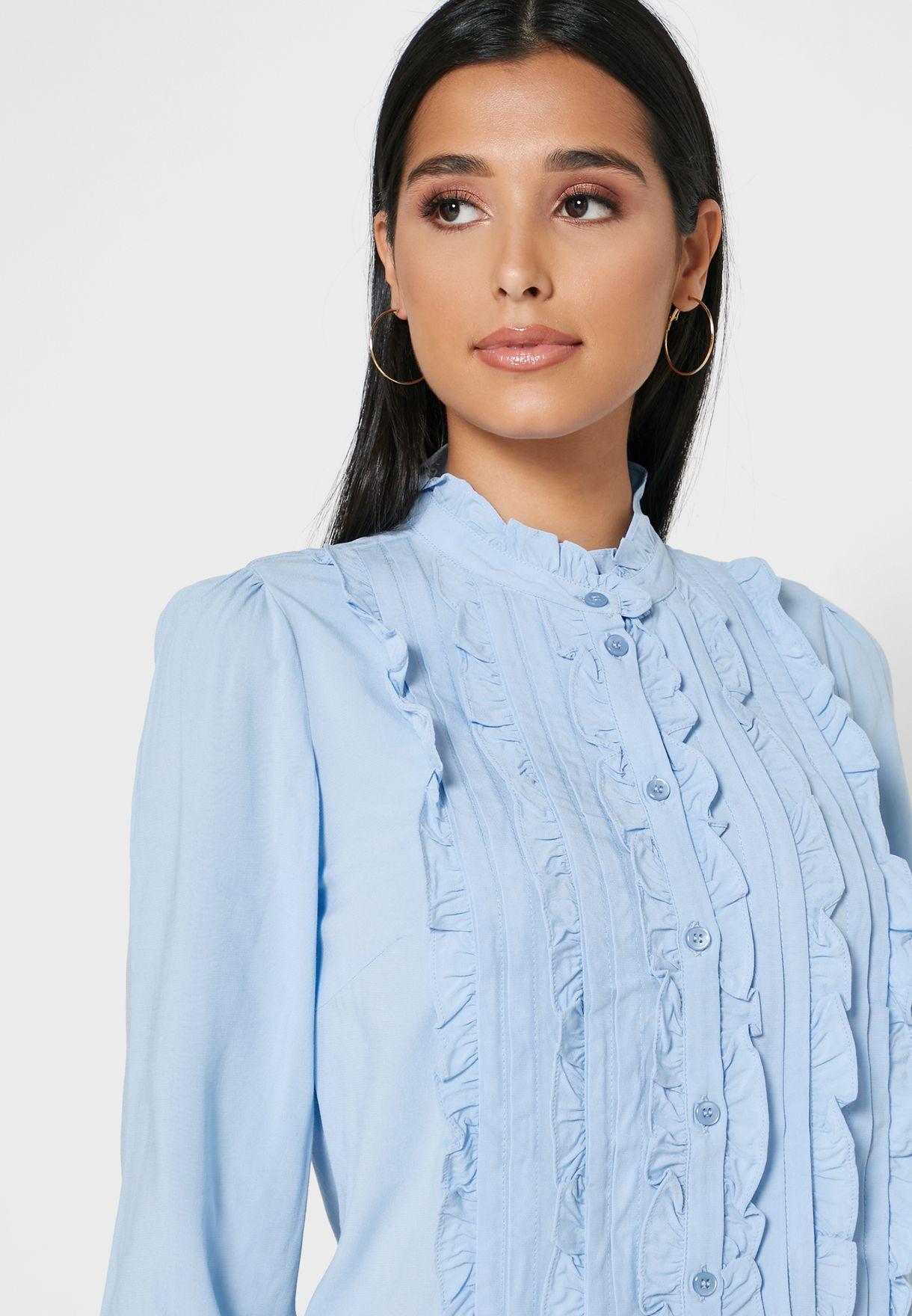 Front Frill Shirt