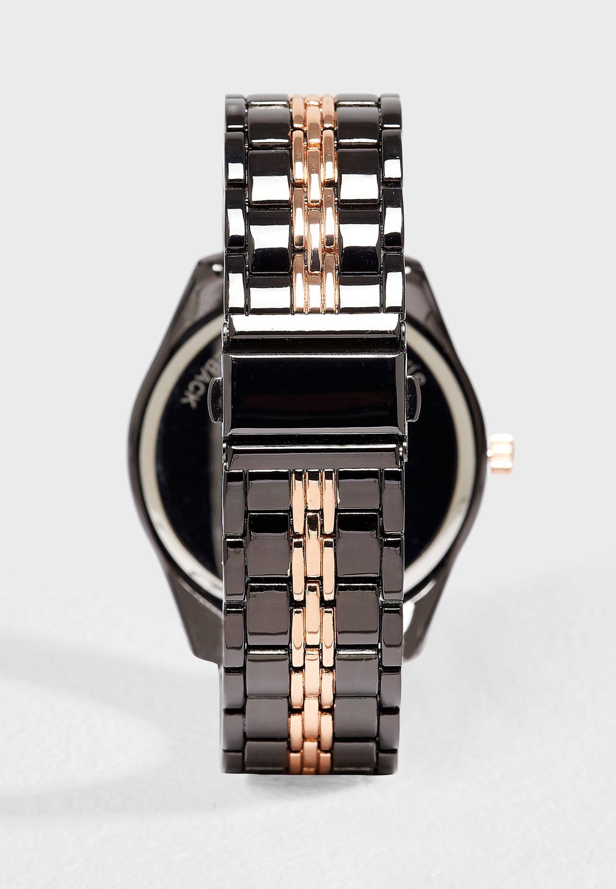 Formal Metal Strap Analog Watch