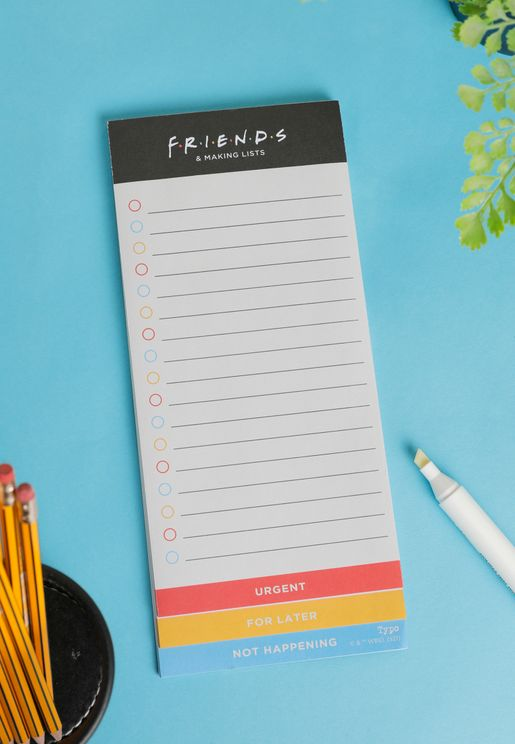 Friends Magnetic Make A List Notepad