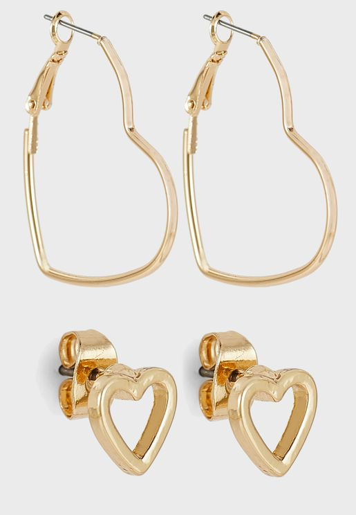 2 Pack Drop Earring