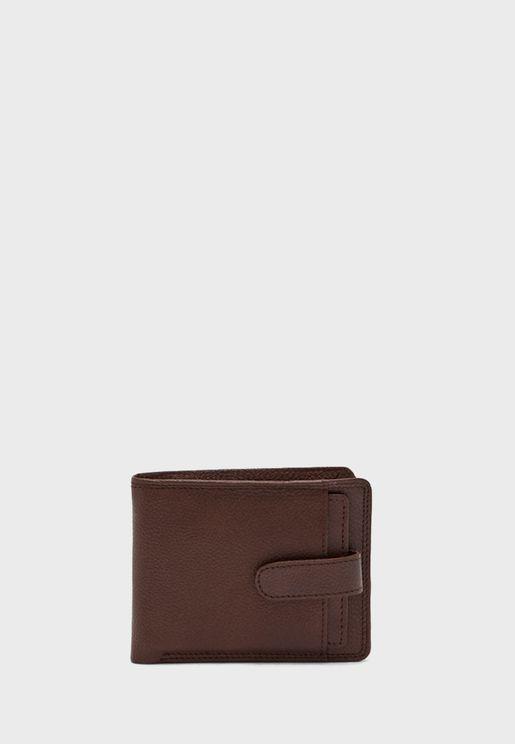 Genuine Leather Wallet and Card Holder Set