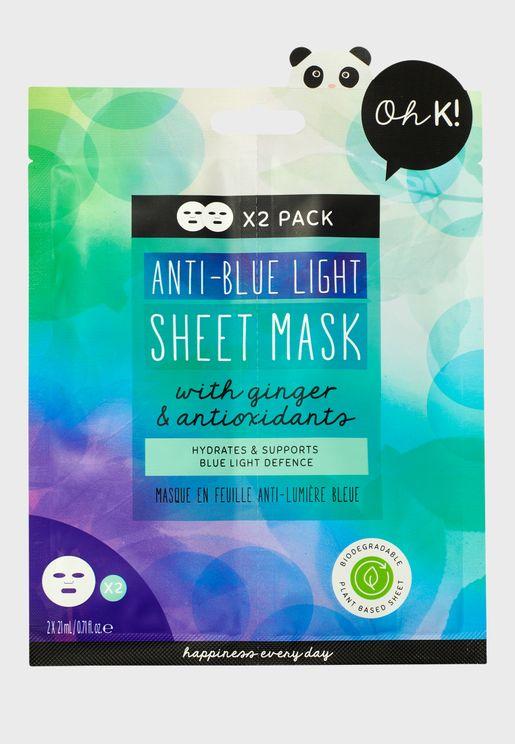 Anti Blue Light Sheet Mask Duo
