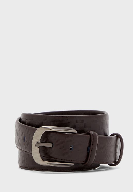Faux Leather Formal Belt