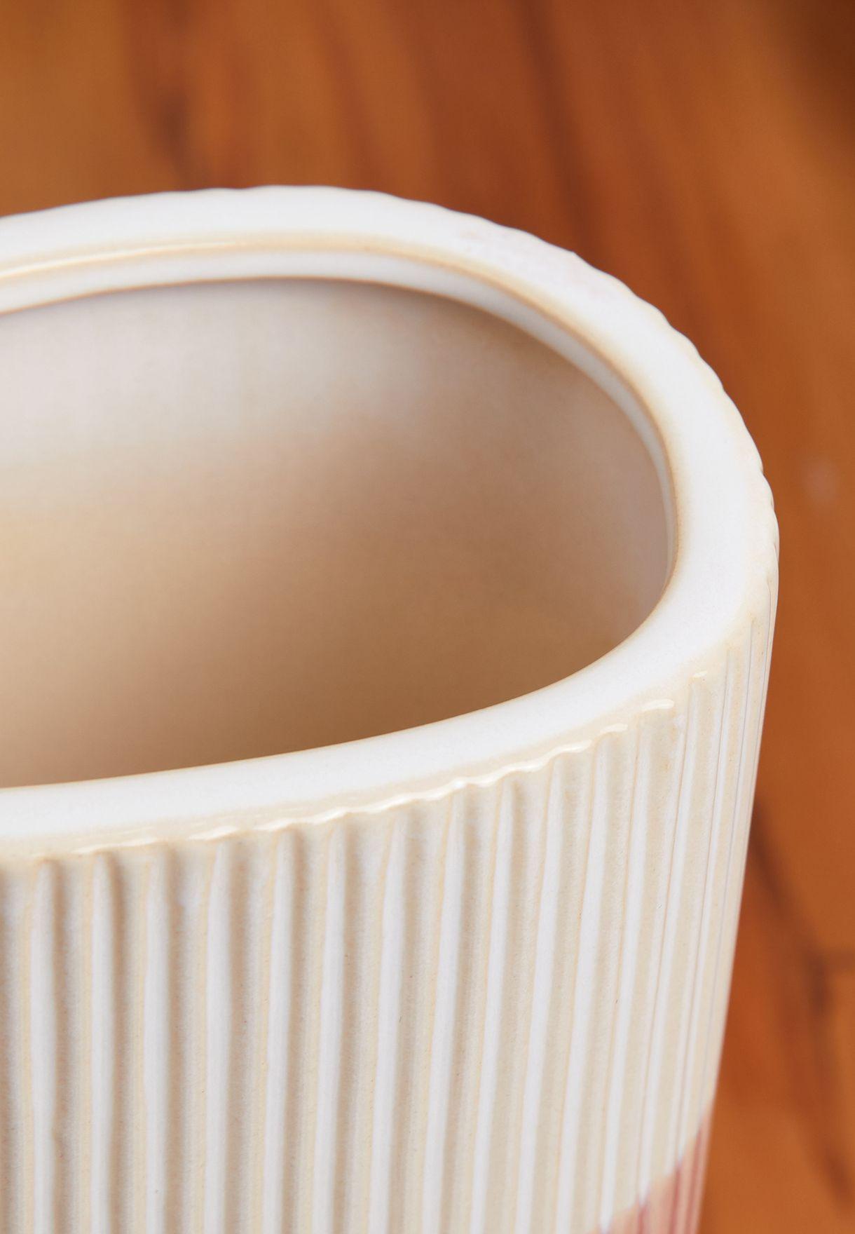 Medium Triangle Glaze Ceramic Vase