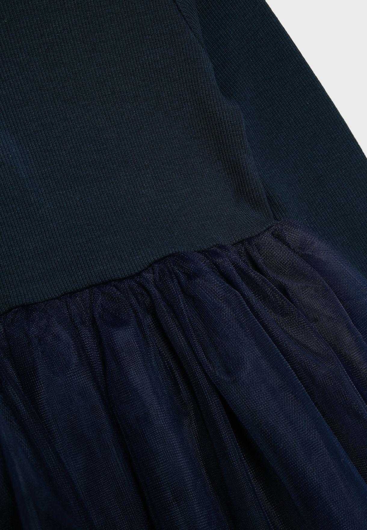 فستان بياقة دائرية للاطفال